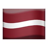 Flag: Latvia on Apple